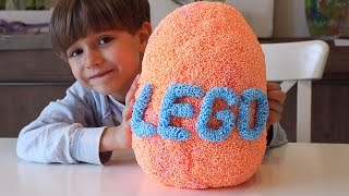 Big Weird LEGO Orange Egg - Iron Man and Other Super Heroes from Marvel Mighty Micros