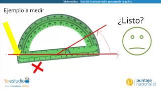 Uso del transportador para medir ángulos