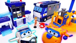 Super Wings New Playset Arrived~! Paul's Police Station & Donnie's Fix It Garage - ToyMart TV
