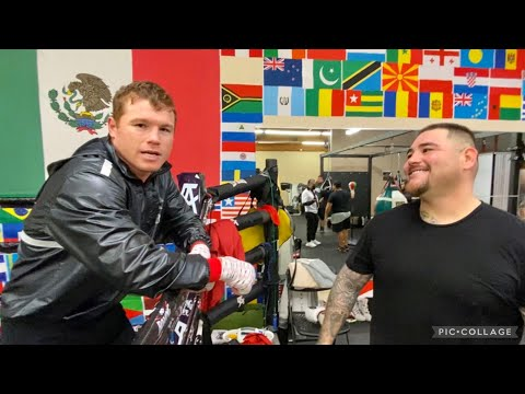 """ANDY RUIZ TELLS CANELO """"I NEED TO BE LIKE YOU THAT'S MOTIVATION"""" INSPIRED BY SEEING CANELO'S BELTS"""