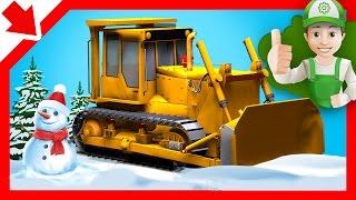 Excavator at work - Excavator videos for children - Cartoon for children - construction