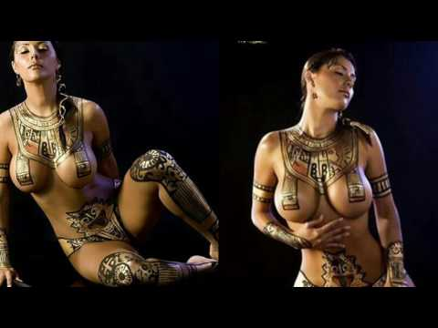Body painting very beautiful girls in the world
