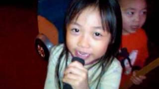 Mikaila and Jordan singing BOOM BOOM POW