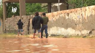 كميرا نبأ ترصد تدفق السيول إلى القلعة الأثرية ومنازل المدنين في مدينة #بصرى_الشام بريف درعا الشرقي.