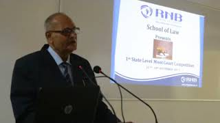Speech by Justice Manak Mohta during State level Moot Court Competition
