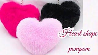How to make heart shape pompom-heart gift for valentine