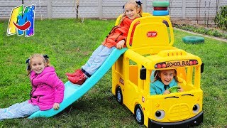 Wheels On The Bus Nursery Rhymes Songs for Children Outdoor Playgroung for Kids Babies by Melliart