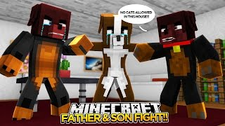 Minecraft FAMILY FIGHT!! - DONUT & HIS FATHER FIGHT OVER CASSIE!! - donut the dog minecraft roleplay
