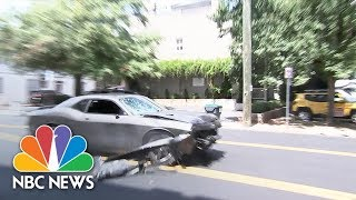 Car That Plowed Into Charlottesville Crowd Spotted Leaving the Scene   NBC News