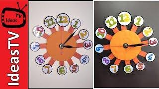Clock DIY - How to make a Wall Clock at Home (Creative Idea)