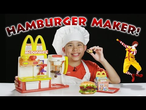 watch McDonald's HAMBURGER MAKER!!! Turn Peanut Butter into a HAMBURGER Snack!