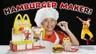 McDonald's HAMBURGER MAKER!!! Turn Peanut Butter into a HAMBURGER Snack!