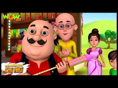 Patakhey Ki Dukan - Motu Patlu in Hindi - 3D Animation Cartoon for Kids -As seen on Nickelodeon