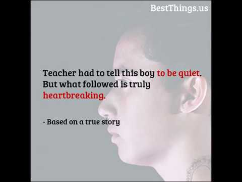 Xxx Mp4 Teacher Had To Tell This Boy To Be Quiet But What Followed Is Truly Heartbreaking 3gp Sex
