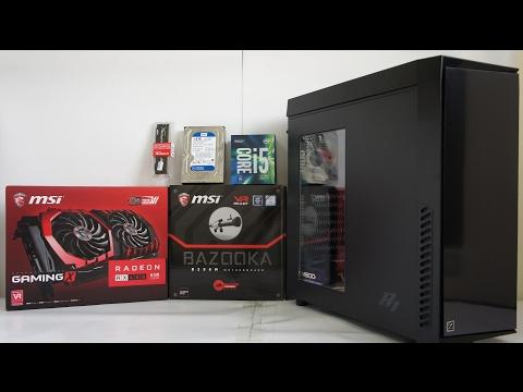 INTEL i5 7500 MSI RX 480 800 Gaming PC Build