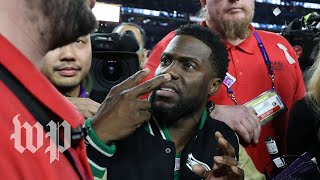 Drunk Kevin Hart was very excited for Eagles win