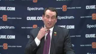 Mike Krzyzewski at Syracuse Postgame