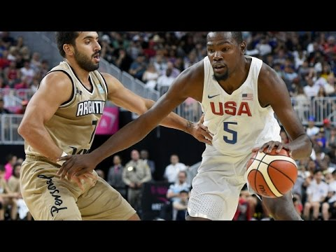 watch Argentina @ USA 2016 Olympic Basketball Exhibition FULL GAME HD 720p English