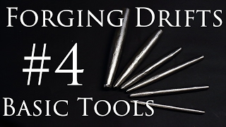 Blacksmithing Tools #4 - Hand  Forging Round Drifts (Mild Steel)