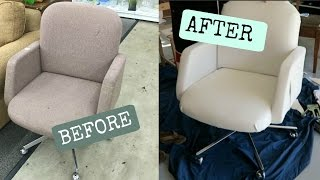 $5 LEATHER CHAIR DIY!!