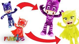 PJ Masks Owlette & Catboy Toys Change COLORS!