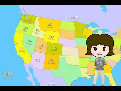 The 50 States Song !!!