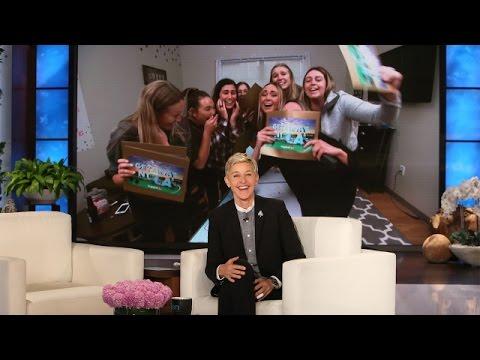 Ellen Surprises Superfan Sorority Sisters