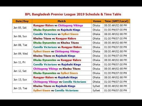 Xxx Mp4 BPL Bangladesh Premier League 2019 Schedule Time Table 3gp Sex