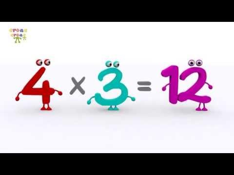 La tabla del 4 NUEVO. Ejercicios de matemática para niños