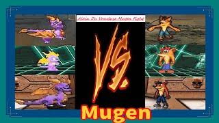 Mugen : Spyro The Dragon Vs Crash Bandicoot (Four Battle) (Request)