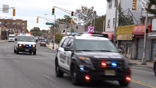 Newark NJ Police Units Responding on South Orange Ave to a Barricaded EDP 10-28-16