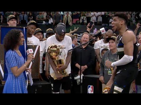 Bucks FULL Trophy Presentation 2021 NBA CHAMPS