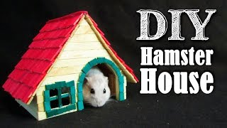 DIY Popsicle Stick Hamster House ~ Casinha de palitos ~