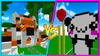 Minecraft BOY HOUSE VS GIRL HOUSE (Animal Edition Base Challenge)