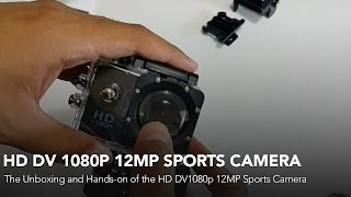 HD DV 1080p 12MP Sports Camera Unboxing and Hands-on