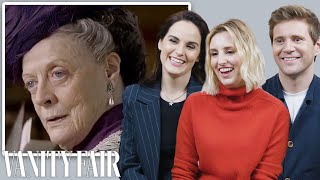 The Cast of Downton Abbey Reviews Maggie Smith's Most Iconic Moments   Vanity Fair