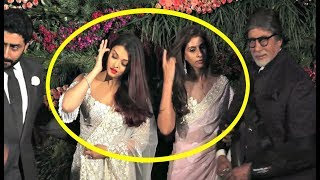 Aishwarya Rai And Shweta Nanda Cold Fight At Anushka Sharma - Virat Kohli Mumbai Reception