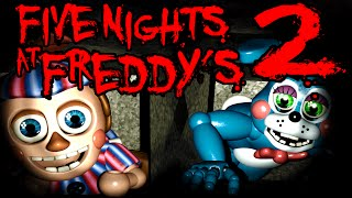 Five Nights at Freddy's 2 NIGHT 2 Balloon Boy Vent BB Foxy Flash Horror BLIND Gameplay PART 2