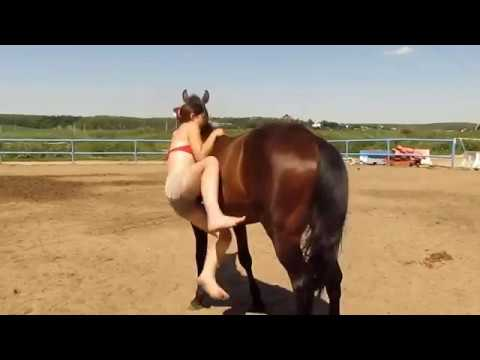 super hot lady and talented horse !! See its awesome and funny too
