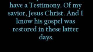 i have a testimony lyrics