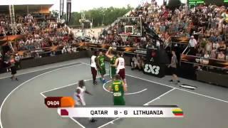 مباراة النصف النهائي من بطولة العالم لكرة السلة 3×3 - ( قطر × ليتوانيا ) روسيا 2014