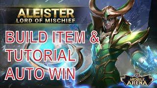 AUTOWIN & MVP ! Tutorial & Build Item Hero ALEISTER : Lord of Mischief Garena AOF