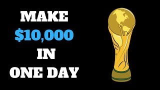 MAKE $10000 A MONTH FROM THE WORLD CUP BY SELLING A PRODUCT 3,000,000,000 (3 BILLION) PEOPLE WANT