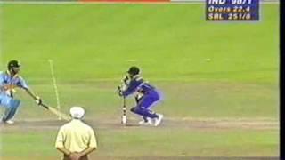 INDIA vs SRI LANKA, 1996 WORLD CUP SEMI FINAL, EDEN GARDENS, KOLKATA, IND INNINGS