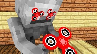 Monster School: Fidget Spinner Tricks -- Cubic Minecraft Animation