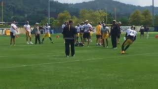 Ben Roethlisberger works with Steelers WRs
