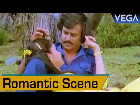 Madhavi Romancing With Rajinikanth || Thambikku Entha Ooru Movie || Romantic Scene