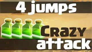 INSANE 4 JUMPS 3 STAR ATTACK vs Maxed Defenses Th9 + Mass Valkyrie