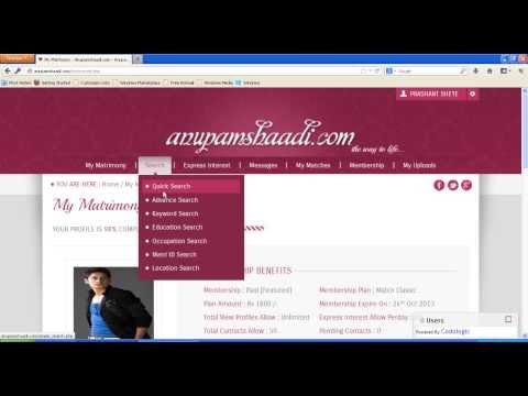 Search indian bride or groom on Anupamshaadi.com