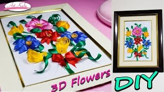 How to make 3d Flower With ribbon | For new year | Best  gift to your Friend | DIY | artkala